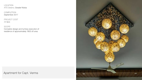 Apartment | Greater Noida: modern Living room by Inno[NATIVE] Design Collective