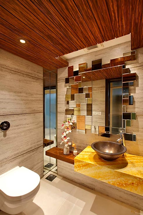 Sand Dunes Pent House :  Bathroom by Mahesh Punjabi Associates