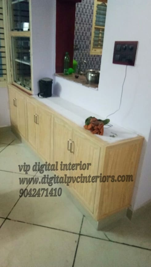 pvc interior in electronic city bangalore: modern Kitchen by vip digital interior in bangalore