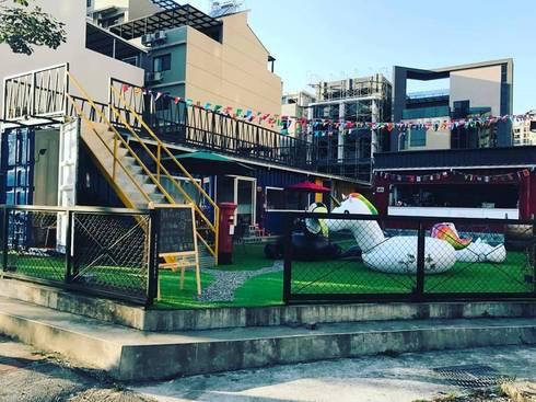 台中迷路MiLu工業風貨櫃屋店面 義大利餐廳:   by 貨櫃屋設計狂人