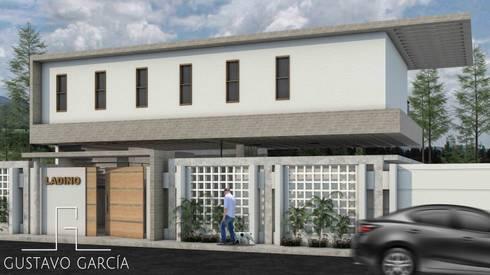 Casa Ladino: Casas de estilo moderno por Arq. Gustavo García