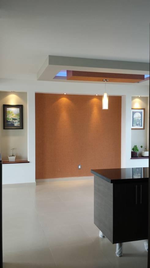 Salas / recibidores de estilo  por DEC Arquitectos