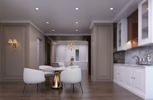 Luxury modern home : modern Kitchen by Magna Mulia Mandiri
