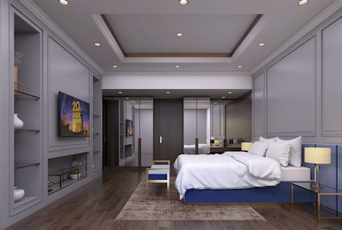 Luxury modern home : modern Bedroom by Magna Mulia Mandiri
