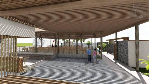 Vista pista de baile: Anexos de estilo rústico por Kiuva arquitectura y diseño
