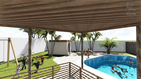 Vista Terraza: Anexos de estilo rústico por Kiuva arquitectura y diseño