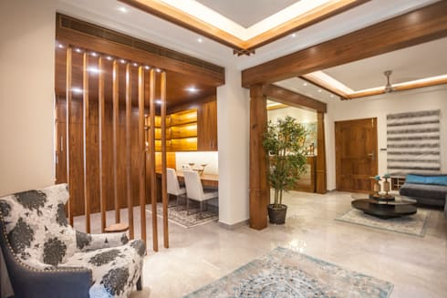 The mural apartment: tropical Study/office by S Squared Architects Pvt Ltd