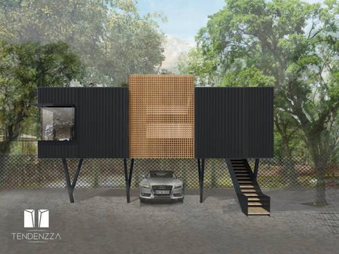 OFICINAS: Estudios y oficinas de estilo moderno por TEZZA
