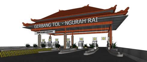 NGURAH RAI – BENOA toll gate:   by GUBAH RUANG studio