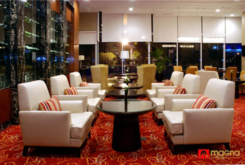 JW Marriot hotel Medan: modern Living room by Magna Mulia Mandiri