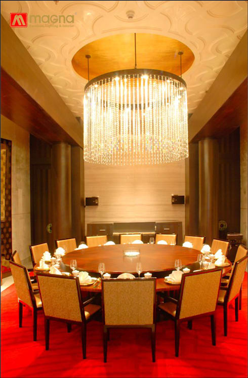 JW Marriot hotel Medan: modern Dining room by Magna Mulia Mandiri