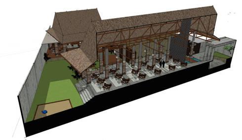 B restaurant:   by GUBAH RUANG studio
