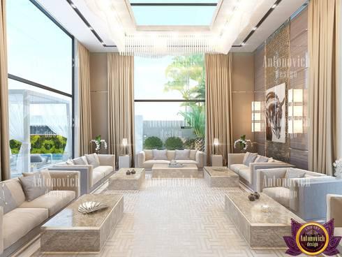 Modern contemporary interior design of Katrina Antonovich: modern Living room by Luxury Antonovich Design