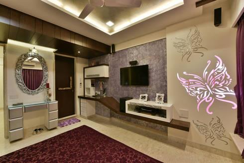 Mr. Doshi's Residence: modern Living room by Banaji & Associates