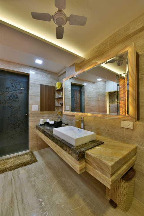 Mr. Doshi's Residence: modern Bathroom by Banaji & Associates