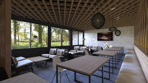 Interior Design PT Antam Pongkor:  Teras by CAA Architect