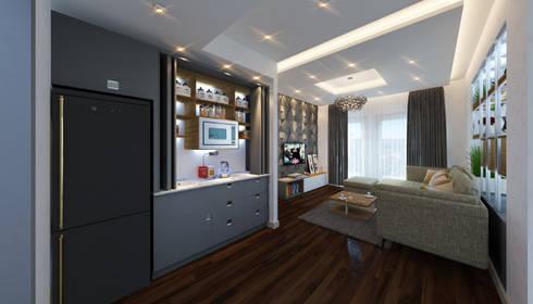 Upper Living Room:  غرفة المعيشة تنفيذ SIGMA Designs