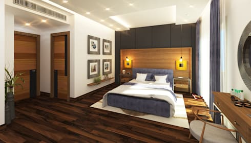 Master Bedroom:  غرفة نوم تنفيذ SIGMA Designs