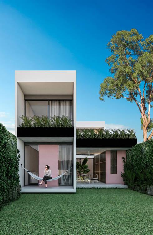 Casas unifamiliares de estilo  por Obed Clemente Arquitectura
