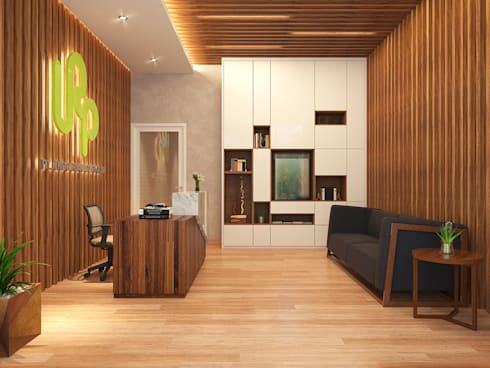 COMPACT & EFFICIENT OFFICE @ GREENLAKE CITY, TANGERANG:  Kantor & toko by PT. Dekorasi Hunian Indonesia (D&H Interior)