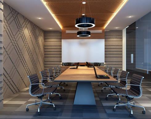 MODRRN & COLORFULL WORKSPACE @ MEGA KUNINGAN, JAKARTA:  Kantor & toko by PT. Dekorasi Hunian Indonesia (D&H Interior)