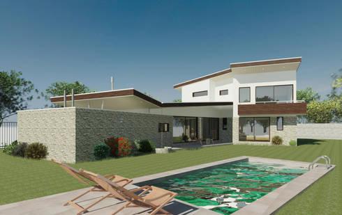 Casa Gajardo:  de estilo  por AtelierStudio