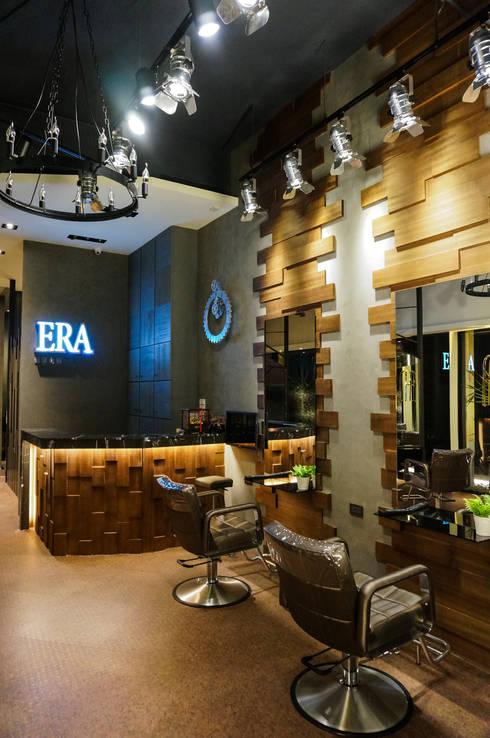 ERA HAIR SALON:  辦公空間與店舖 by 沐築空間設計