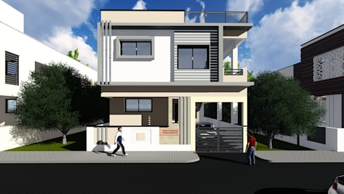 Front Elevation:   by Cfolios Design And Construction Solutions Pvt Ltd