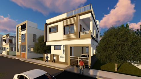Isometric Elevation:   by Cfolios Design And Construction Solutions Pvt Ltd