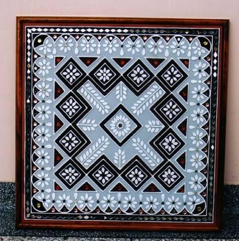 Designer Mud Work Frame mud wall art designer wall work work done by Inside Out Interior Ahmadabad Gujarat : modern Dressing room by Inside Out Interior