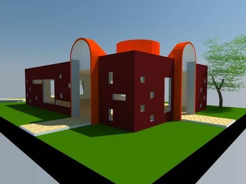 1: Salas multimedias de estilo  por OMD Arquitectos