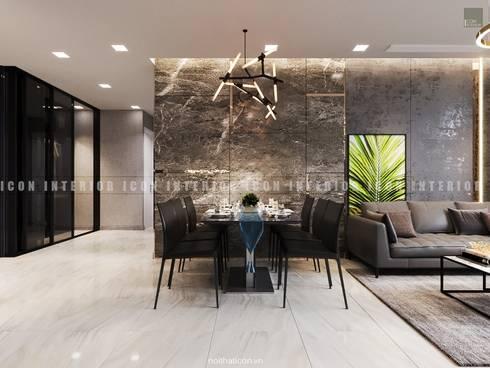 Nội thất căn hộ Vinhomes Golden River – Tòa Aqua:  Phòng ăn by ICON INTERIOR