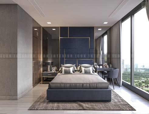 Nội thất căn hộ Vinhomes Golden River – Tòa Aqua:  Phòng ngủ by ICON INTERIOR