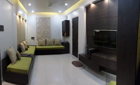 Interior & Turnkey Project: modern Living room by Anthem Interiors & Turnkey Solutions