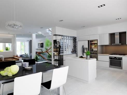 Các chi tiết của căn nhà đơn giản những vô cùng tinh tế.:  Phòng ăn by Công ty TNHH Thiết Kế Xây Dựng Song Phát