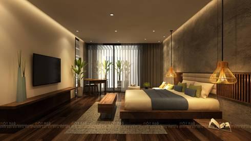 Cầu Giấy House:  Phòng ngủ by Văn Phòng Kiến Trúc Một Nhà