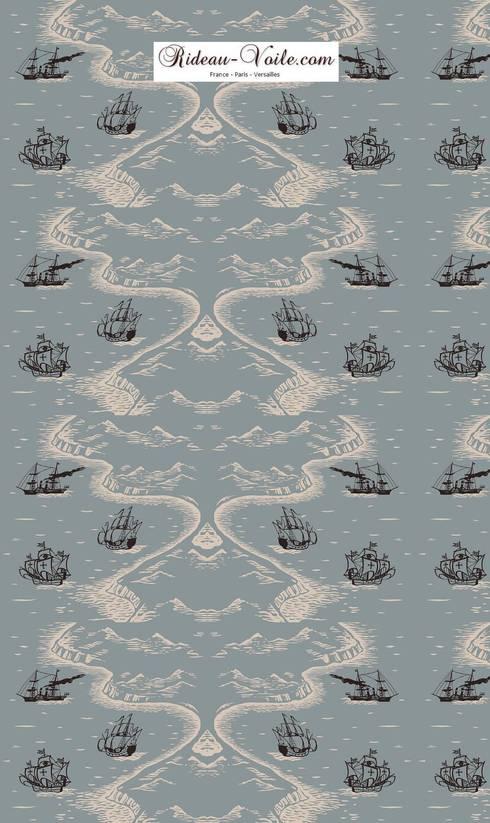 rideau style marin awesome style mditerranen bleu et blanc ray tissu rideau marin marine style. Black Bedroom Furniture Sets. Home Design Ideas