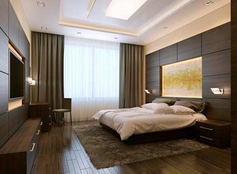 Bedroom Concept: modern Bedroom by Magnon India : Residential Lifestyle Interior Company