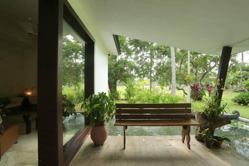 ALEX RESIDENCE COCHIN: modern Garden by ALEX JACOB ARCHITECT
