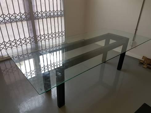 Office Desk: industrial Study/office by Ciber Steel Worx (PTY) LTD