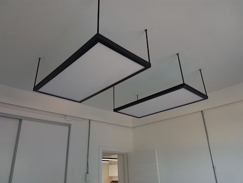 Light Fittings: industrial Study/office by Ciber Steel Worx (PTY) LTD