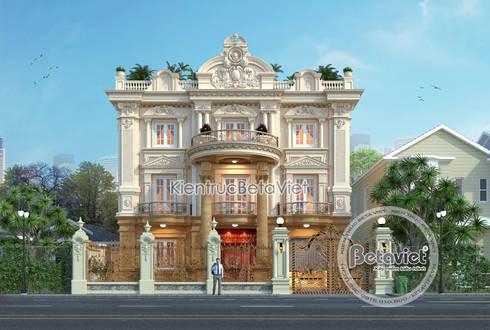 Phối cảnh mẫu biệt thự kiểu Pháp cổ điển 3 tầng ( CĐT: Ông Cương - Thanh Hóa) KT17071A:   by Công Ty CP Kiến Trúc và Xây Dựng Betaviet