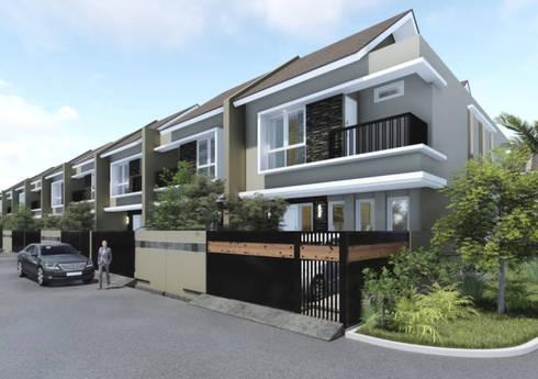 Gading Kenten Residence – Palembang:  Rumah teras by ANJARSITEK