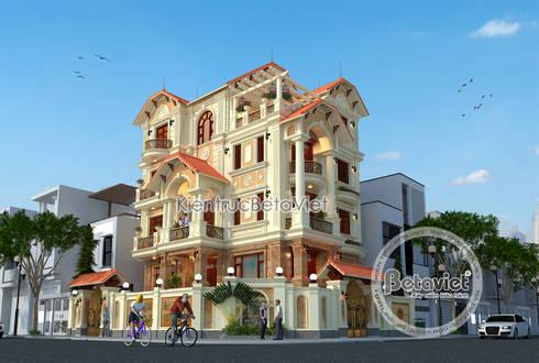Phối cảnh mẫu thiết kế biệt thự phố 5 tầng Tân cổ điển (CĐT: Ông Cảnh - Bắc Giang) KT17099A:   by Công Ty CP Kiến Trúc và Xây Dựng Betaviet