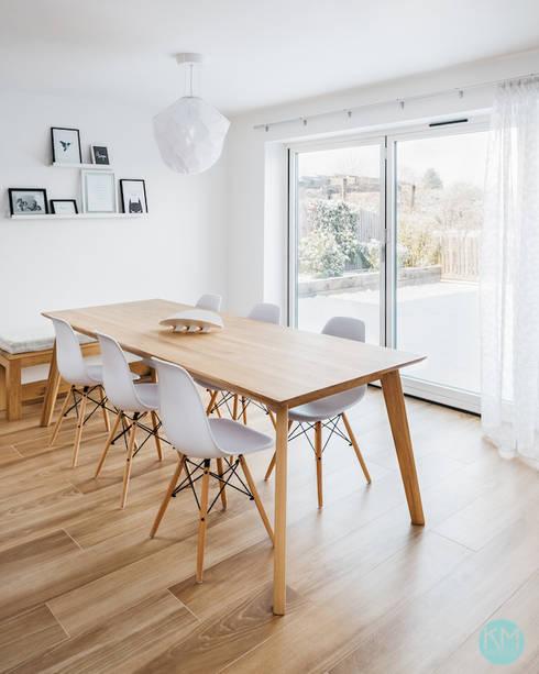 Scandinavian style dining: scandinavian Dining room by Katie Malik Interiors