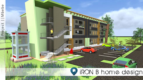 Green residence project:   by iRON B HOME DESIGN