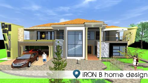 House Manzini:   by iRON B HOME DESIGN