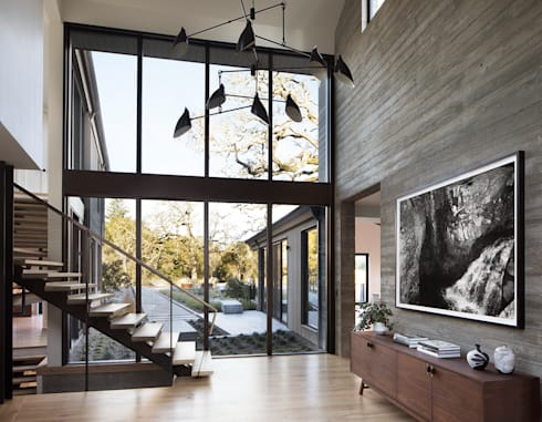 Woodpecker Ranch:  Stairs by Feldman Architecture
