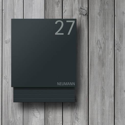 briefkasten anthrazit edelstahl von z e d e k homify. Black Bedroom Furniture Sets. Home Design Ideas