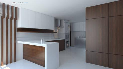Interior Kitchen Design, Modern Minimalist: modern Kitchen by  ABG Architects and Builders